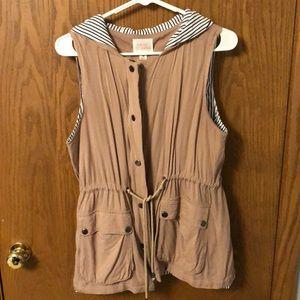 Tops - Dusty pink utility vest